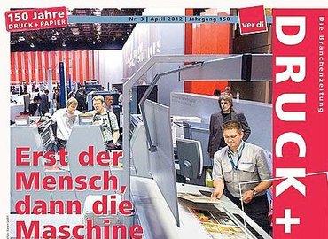 Ausschnitt Titelseite Druck+Papier Branchenmagazin