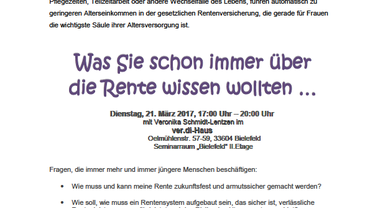 Veranstaltung Rente und Frauen 21.03.2017