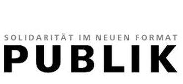 Titel-Logo der Mitgliederzeitschrift PUBLIK