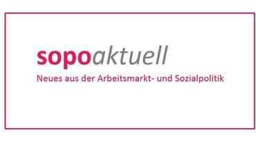 Logo der Info-Reihe sopoaktuell des Ressorts Arbeitsmarkt- und Sozialpolitik
