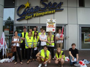 Streik Cinestar Gütersloh am 8. August 2014