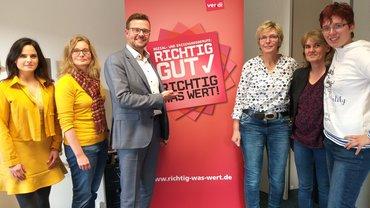 Erzieherinnen in ver.di treffen sich mit dem CDU Landtagsabgeordneten Raphael Tigges zum Thema Kibiz
