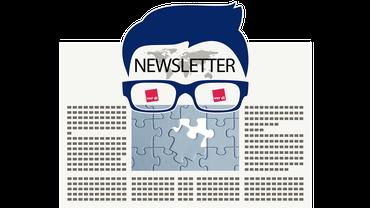 News Newsletter Nachrichten Update Brille Logo Zeitung Illustration